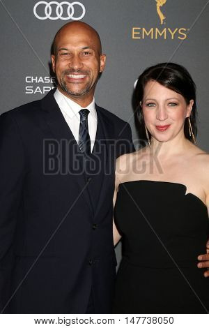 LOS ANGELES - SEP 16:  Keegan-Michael Key, Elisa Pugliese at the TV Academy Performer Nominee Reception at the Pacific Design Center on September 16, 2016 in West Hollywood, CA