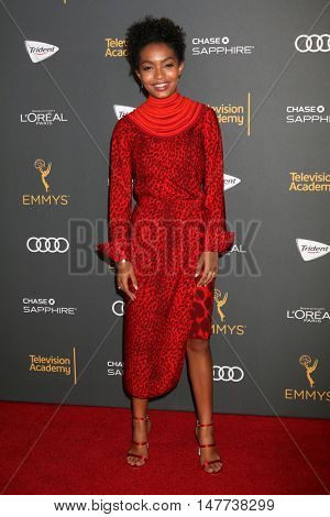 LOS ANGELES - SEP 16:  Yara Shahidi at the TV Academy Performer Nominee Reception at the Pacific Design Center on September 16, 2016 in West Hollywood, CA