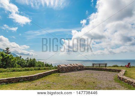 Cabot Trail look-off (Cape Breton Nova Scotia Canada)