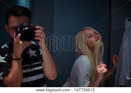 Photographer Men Digital Single-Lens Reflex Camera Casual Clothing