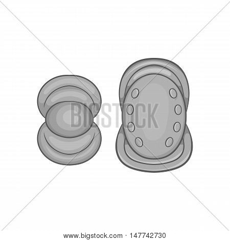 Knee protector and elbow pad icon in black monochrome style on a white background vector illustration