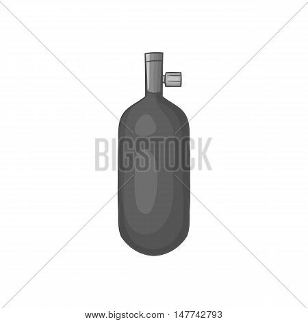 Gas hand grenade icon in black monochrome style on a white background vector illustration