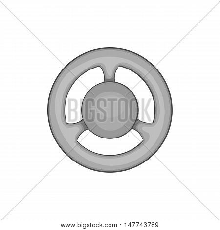Car rudder icon in black monochrome style isolated on white background. Spare parts symbol vector illustration