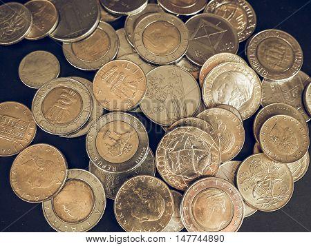 Vintage Italian Lira Coin