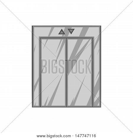 Lift icon in black monochrome style isolated on white background. Hoist symbol vector illustration
