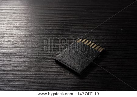 SD Card Black Texture Underside Rough Desk Work Prongs