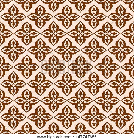 Vector seamless pattern in ethnic national style of Uzbekistan Asia.