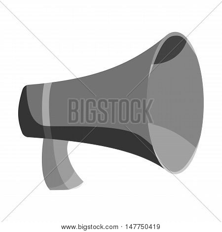 Mouthpiece icon in black monochrome style isolated on white background. Sound symbol vector illustration