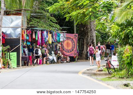 Street Vendors And Parking People