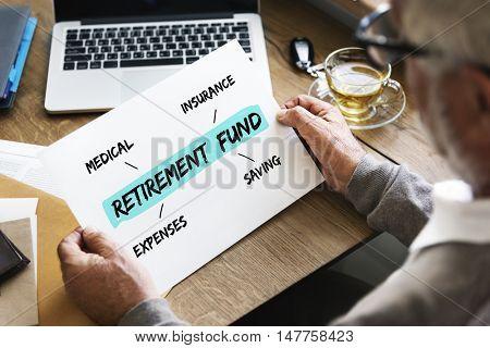 Retirement Fund Investment Diagram Concept