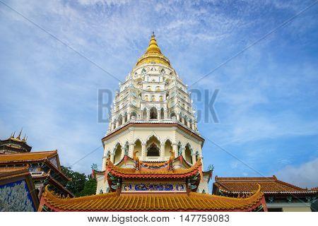 giant pagoda at Kek Lok Si temple, Penang, Malaysia