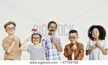 Playful Mischief Children Retro Concept