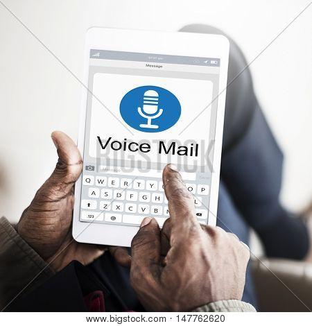 Voice Mail Message Notification Communication Concept
