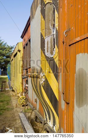 Abandoned Vintage Railway Carriages