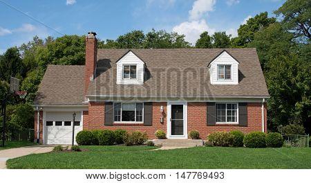 Brick Cape Cod House