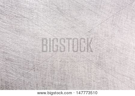 Industrial Steel Plate With Scratches Textured Background