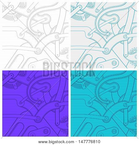 Seamless texture from the time gears - vector illustration
