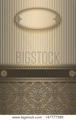 Vintage luxury background with decorative borderframe and old-fashioned elegant ornament.