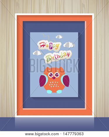 Poster. Baby invitation shower card. Vector fashion, scrapbook decor. Baby Greeting postcard. Happy birthday background. Design template.