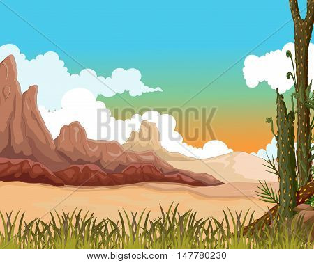 beauty landscape background with desert for you design