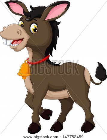 cute donkey cartoon walking for you design