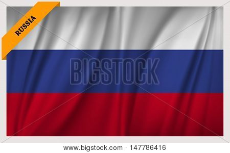 National flag of Russia - waving edition