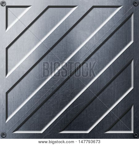 scifi wall. metal wall and rivet. metal background and texture 3d illustration. technology concept.