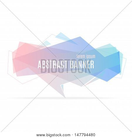 Banner Geometric Trendy Origami Speech Bubble. Vector illustration