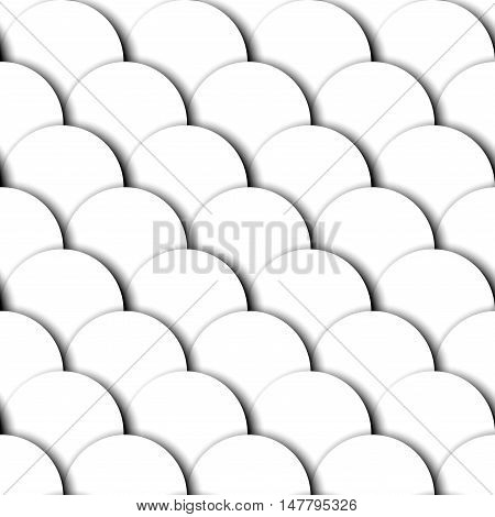Seamless background pattern. Abstract white geometric pattern with relief elements.
