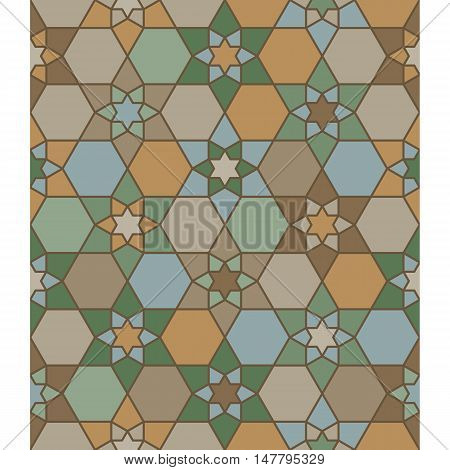 moroccan seamless pattern with star and hexagon background