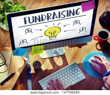 Fund raising Capital Donation Funds Support Concept
