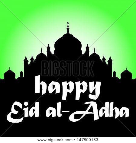 Happy Eid Al Adha or Eid Mubarak Greeting Card