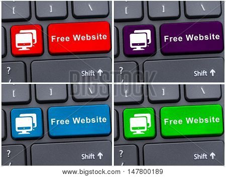 Free Website Button On Laptop Keyboard