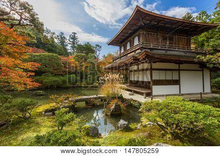 Kyoto Silver Pavillion Ginkakuji temple, Japan