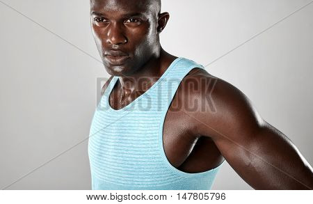 Confident Young African Man With Muscular Build