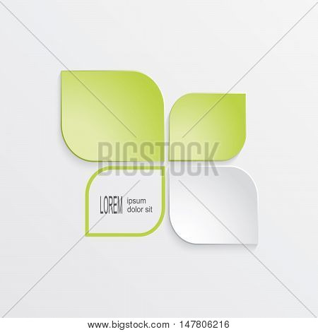 ecology symbol on white background. infographic template. Vector illustration