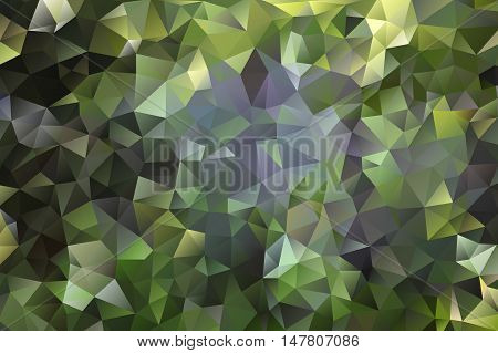 multicolored abstract background of effect green geometric triangles