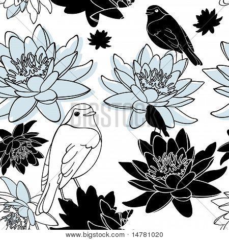 Vektor Seamless Floral Background
