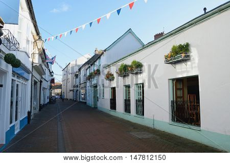 Old Fore Street in Sidmouth Town, Devon