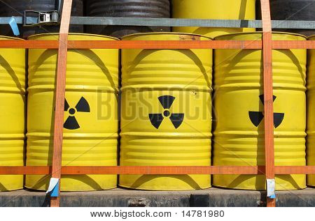 Barrels for radioactive waste