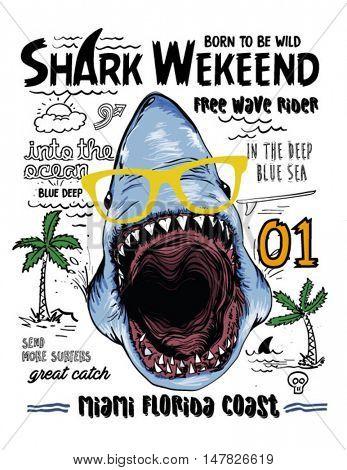 shark and slogan illustration