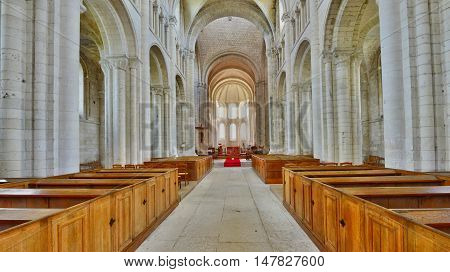 Saint Martin de Boscherville France - june 22 2016 : the Saint Georges abbey in Seine Maritime