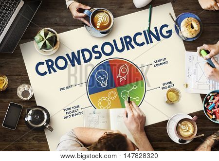 Crowdsourcing Business Brainstorming Concept