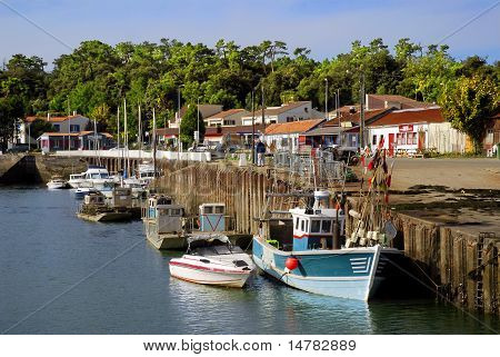 Port of Saint Trojan in France