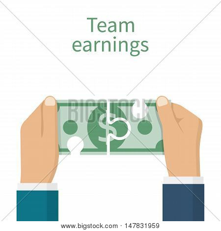 Earnings Team Concept