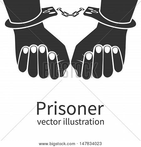 Hands In Handcuffs Isolated