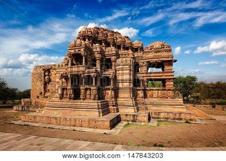 Sasbahu (Sas-Bshu ka mandir, Sahastrabahu Temple) temple in Gwalior fort. Gwalior, Madhya Pradesh, India