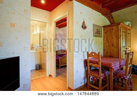 Countryside House Comfortable Interior In Alsacien Style