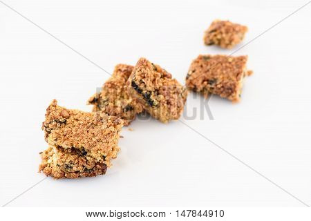 Homemade wholewheat quinoa cookie with black plum