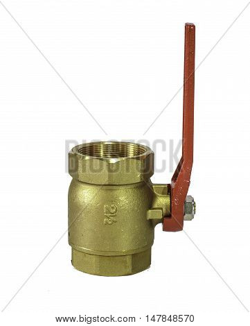 The Water valve isolated on white background